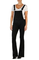 Petite Women's Paige Denim 'Tavie' Flare Overalls Raven Black