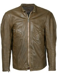 Fake Alpha Vintage 1960S Schott Leather Jacket Brown
