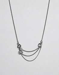 Cheap Monday Lock Necklace Silver