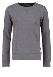Nudie Jeans Sven Sweatshirt Dark Grey Mottled Grey