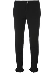 Gucci Ruffle Trim Trousers Black