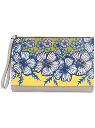 Furla Floral Print Clutch Women Leather One Size