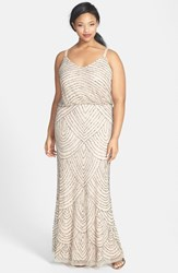 Plus Size Women's Adrianna Papell Beaded Blouson Gown