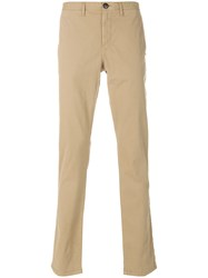 Michael Kors Classic Chino Trousers Men Cotton Spandex Elastane 38 Nude Neutrals