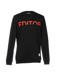 The Editor Sweatshirts Black
