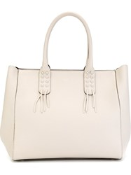 Steffen Schraut Large Double Handle Tote Bag Nude And Neutrals