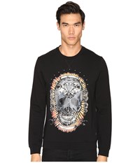 Just Cavalli Wreath Skull Sweatshirt Black Men's Sweatshirt