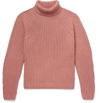 Berluti Ribbed Cashmere Rollneck Sweater Pink