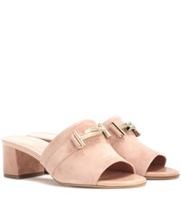 Tod's Suede Mules Pink