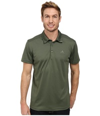 Adidas Outdoor Hiking Polo Base Green Men's Short Sleeve Pullover Olive