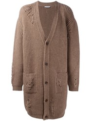 J.W.Anderson Oversized Cardigan Brown