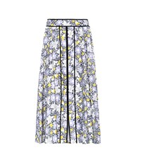 Carolina Herrera Floral Printed Stretch Cotton Skirt Multicoloured