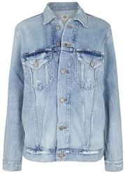 Citizens Of Humanity Light Blue Embroidered Denim Jacket