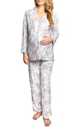 Everly Grey Women's Helena Maternity Nursing Pajamas