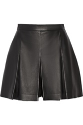 Proenza Schouler Pleated Leather Shorts Black