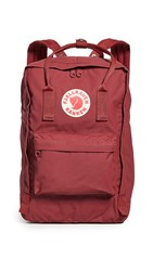 Fjall Raven Fjallraven Kanken 15 Laptop Backpack Ox Red
