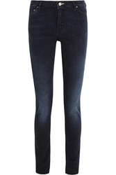 Acne Studios Flex Basement Faded Low Rise Skinny Leg Jeans Blue