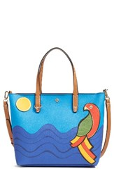 Tory Burch Small Kerrington Parrot Coated Canvas Tote