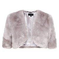 Coast Faux Fur Cover Up Grey