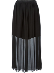 Carven Layered Sheer Skirt Black