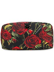 Dolce And Gabbana Rose Print Make Up Bag Multicolour