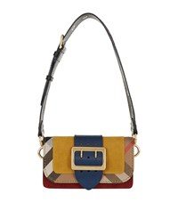 Burberry Shoes And Accessories Check Trim Buckle Bag Female Yellow