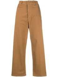 Department 5 Cropped Wide Leg Trousers Brown