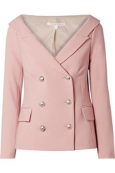 Veronica Beard Frayne Double Breasted Crepe Blazer Baby Pink