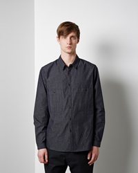Christophe Lemaire Chambray Shirt Indigo Blue