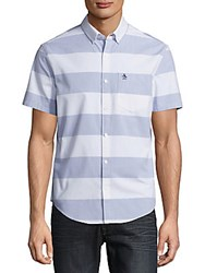 Original Penguin Striped Cotton Blend Shirt Bright White