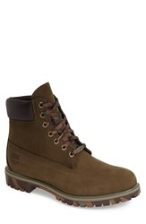 Men's Timberland 'Six Inch Classic Boots Series Premium' Boot Olive Nubuck Camo