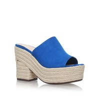 Nine West Skyrocket Espadrille Mules Blue