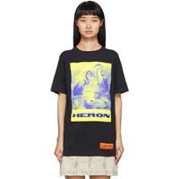 Heron Preston Black Birds T Shirt
