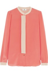 Day Birger Et Mikkelsen Silk Crepe De Chine Blouse Orange