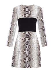 Carven Python Print Crepe Dress