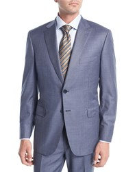 Brioni Super 150S Wool Two Piece Suit Blue