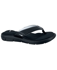 Nike Women's Comfort Thong Sandals From Finish Line Black White