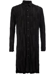 L'eclaireur Textured Checkered Long Shirt Black