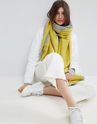 Asos Long Woven Diagonal Color Blocked Scarf Gray