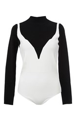 Paule Ka Illusion Bodysuit White