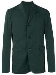 Jil Sander Three Button Blazer Green