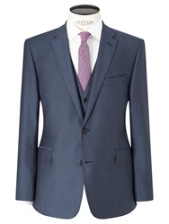 Richard James Mayfair Wool Mohair Slim Fit Suit Jacket Blue Steel