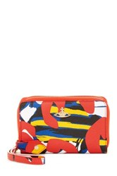 Vivienne Westwood Leather Zip Wallet With Mobile Phone Holder Red