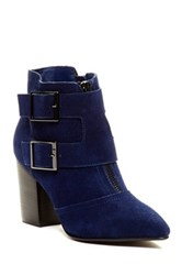 Restricted Jet Set Pointy Toe Bootie Blue