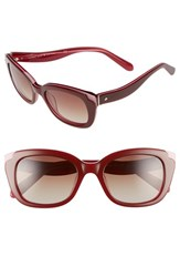 Kate Spade Women's New York 'Danella' 50Mm Sunglasses Red Pink Red Pink