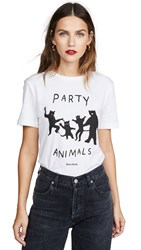 Etre Cecile Party Animals T Shirt White