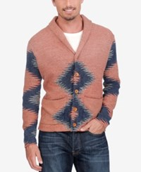 Lucky Brand Men's Intarsia Cowl Neck Sweater Multi