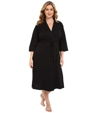 Jockey Plus Size 48 Cotton Robe Black Women's Robe