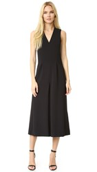 Alexander Wang V Neck Gaucho Jumpsuit Black