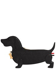 Thom Browne Hector Dog Grained Leather Clutch